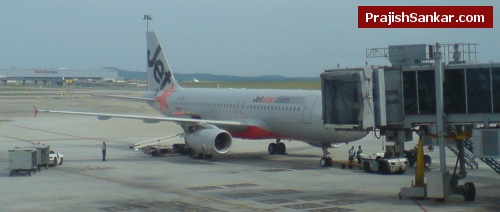 The JetStar aeroplane that I boarded