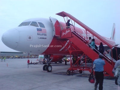 Boarding flight to Trichy at LCCT airport.
